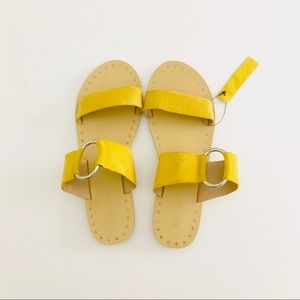 Top Shop Mustard Ring Slides *Brand New*
